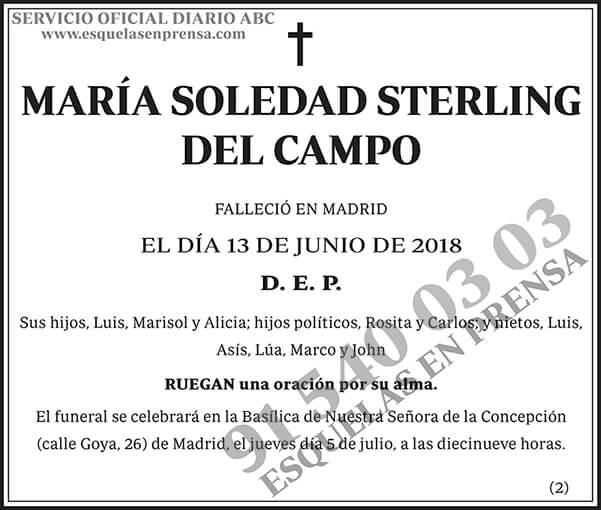 María Soledad Sterling del Campo